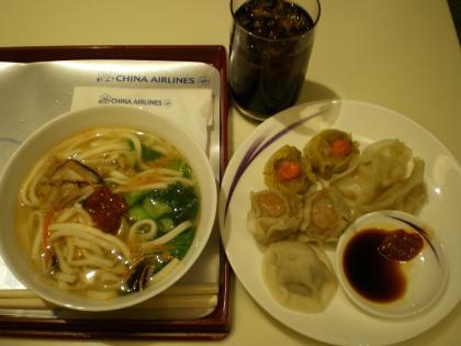 香港2012.12台北乗継チャイナエアラウンジ飲食①