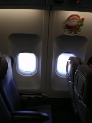 香港2012.12中華航空617便機内