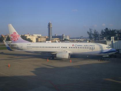 香港2012.12台北桃園空港チャイナエア航空機