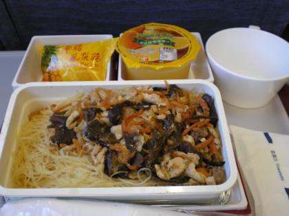 香港2012.12中華航空617便機内食