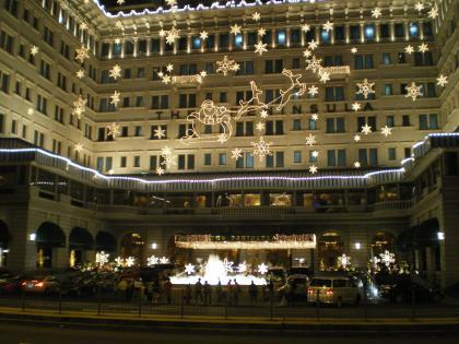 香港2012.12ペニンシュラホテル夜景②