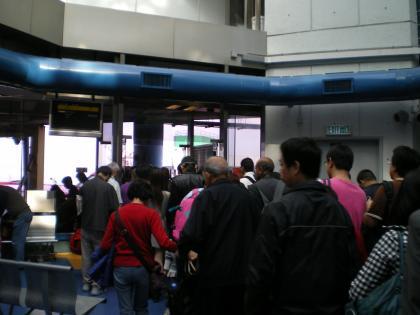香港2012.12マカオフェリー乗船