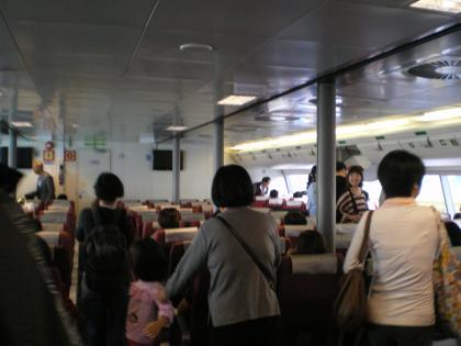 香港2012.12マカオフェr-船内