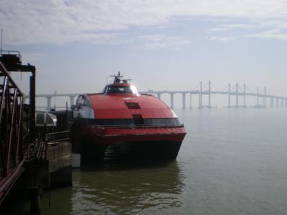 香港2012.12j乗船したマカオフェリー