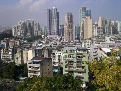 香港2012.12マカオモンテ砦から市街の眺め①