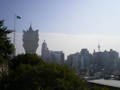 香港2012.12マカオモンテ砦から市内の眺め②
