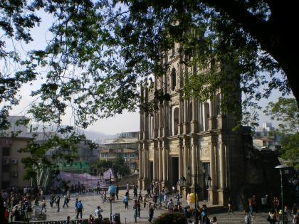 香港2012.12マカオ聖ポール天主堂側面