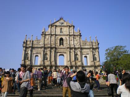 香港2012.12マカオ聖ポール天主堂