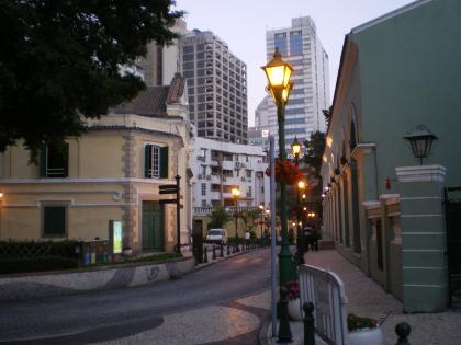 香港2012.12マカオドンペドロ5世劇場前通り