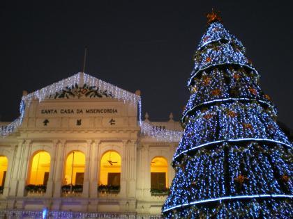 香港2012.12マカオ仁慈堂とセドナクリスマスツリー1