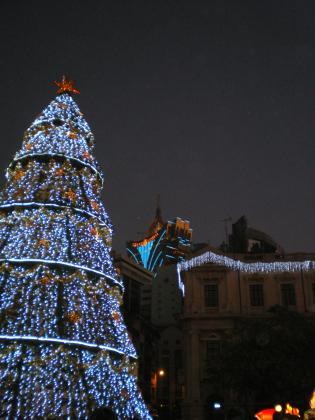 香港2012.12マカオセナドクリスマスツリーとリスボア