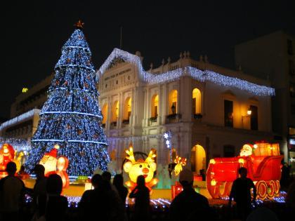 香港2012.12マカオ仁慈堂クリスマスツリー