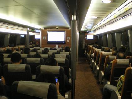 香港2012.12マカオ香港行フェリー船内