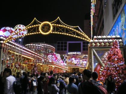 香港2012.12ハーバーシティクリスマスイルミネーション