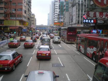 香港2012.12空港バス2階席からの風景1