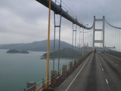 香港2012.12空港バス2階席からの風景2