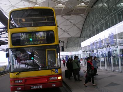 香港2012.12空港バス空港到着