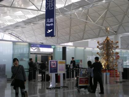 香港2012.12香港空港出発口