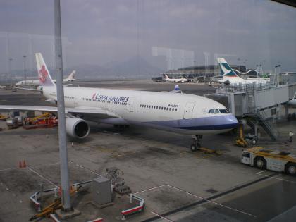 香港2012.12香港空港チャイナエアライン搭乗機