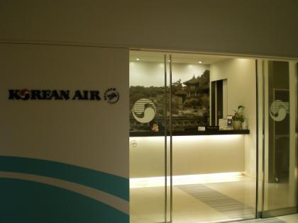 シンガポール2013.1成田大韓航空ラウンジ入口