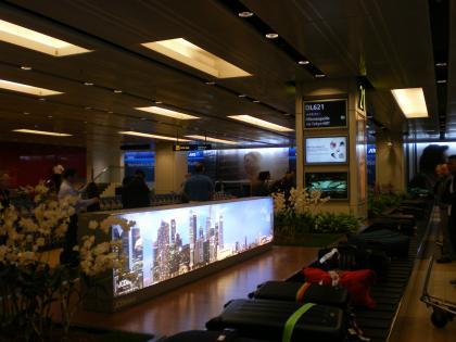 シンガポール2013.1チャンギ空港バゲージクレーム