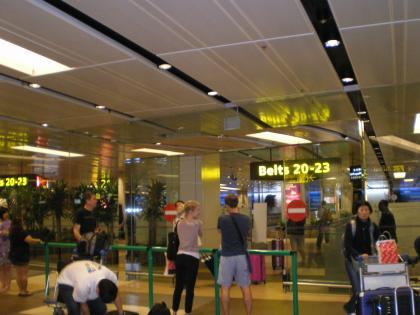 シンガポール2013.1チャンギ到着ロビー
