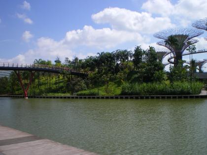 シンガポール2013.1ガーデンバイザベイへの橋