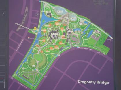 シンガポール2013.1ガーデンバイザベイ地図