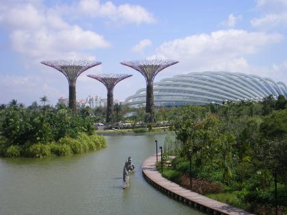 シンガポール2013.1橋からのガーデンバイザベイ