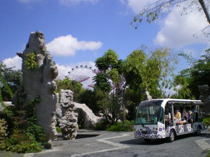 シンガポール2013.1ガーデンバイザベイ中国庭園と遊覧バス