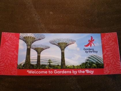 シンガポール2013.1ガーデンバイザベイ入場券