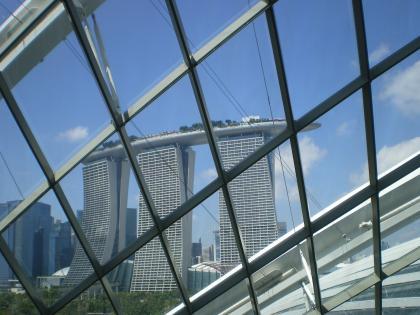 シンガポール2013.1クラウドフォレストからマリーナベイサンズ