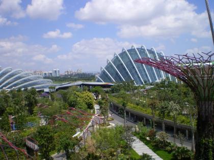 シンガポール2013.1スカイウォークからドーム