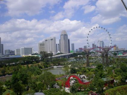 シンガポール2013.1スカイウォークからシンガポールフライヤー