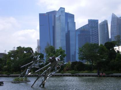 シンガポール2013.1ガーデンバイザベイのシンボル・トンボ