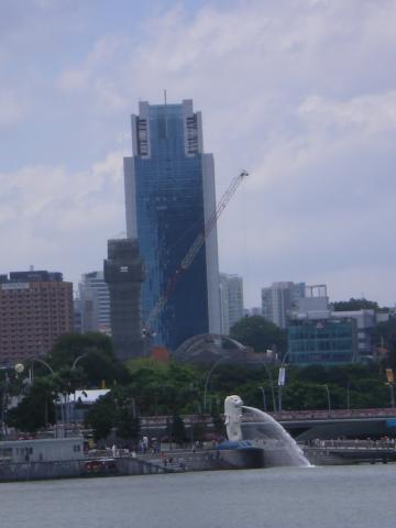 シンガポール2013.1マーライオン遠景