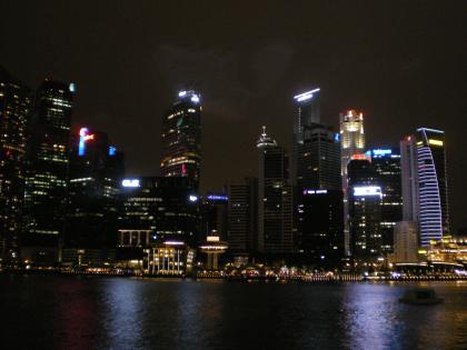 シンガポール2013.1マリーナ地区夜景