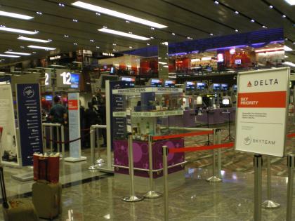 シンガポール2013.1チャンギ空港デルタカウンター