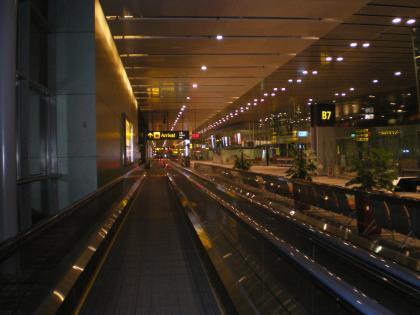 シンガポール2013.1チャンギ空港第3ターミナルへ
