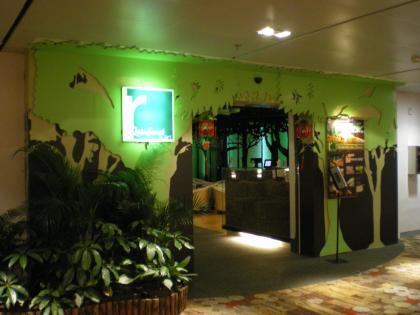 シンガポール2013.1チャンギ空港第1Tレインフォレストラウンジ1