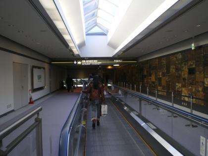 シンガポール2013.1成田空港到着