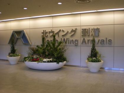 シンガポール2013.1成田空港到着ロビー