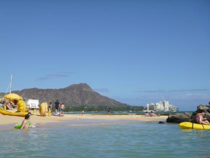 ハワイ2013.7ワイキキ海からのダイヤモンドヘッド