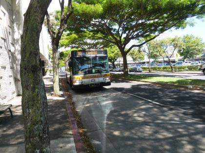ハワイ2017.7カイルア行き70系統バス