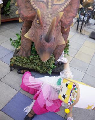 恐竜の襲撃