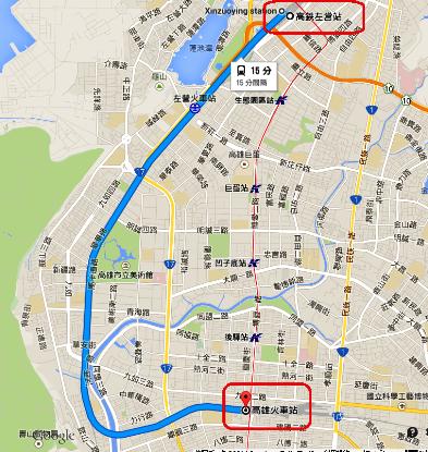 1高鐵左営 高尾駅 1km