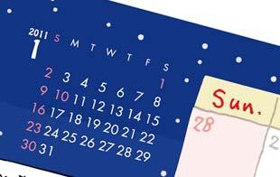 カレンダー次の月