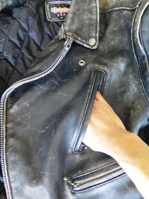 革ジャン 洗濯 ポケットチェック