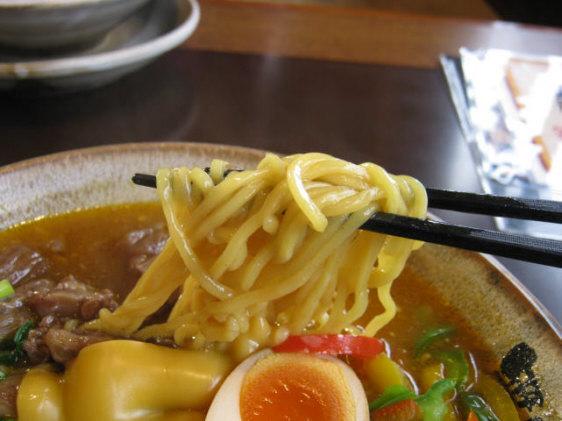 牛すじとチーズの伽麗らーめん細麺
