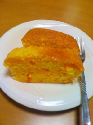雪の下人参パウンドケーキ